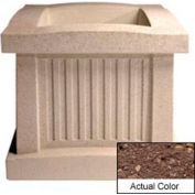Wausau SL404 Square Outdoor Planter - Weatherstone Brown 28x28x24
