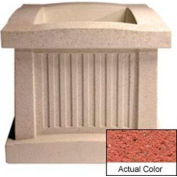 Wausau SL404 Square Outdoor Planter - Weatherstone Brick Red 28x28x24