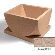 Wausau WS107 Square Outdoor Planter - Weatherstone Buff 30x30x18