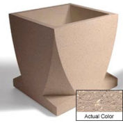 Wausau WS108 Square Outdoor Planter - Weatherstone Buff 30x30x30