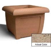 Wausau SL407 Square Outdoor Planter - Weatherstone Gray 38x38x30
