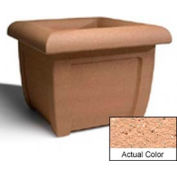 Wausau SL407 Square Outdoor Planter - Weatherstone Cream 38x38x30