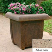 Wausau SL4071 Square Outdoor Planter - Weatherstone Gray 20x20x20