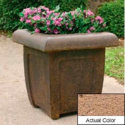 Wausau SL4071 Square Outdoor Planter - Weatherstone Sand 20x20x20