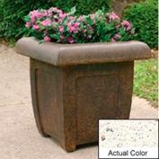 Wausau SL4071 Square Outdoor Planter - Weatherstone White 20x20x20