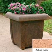 Wausau SL4071 Square Outdoor Planter - Weatherstone Cream 20x20x20