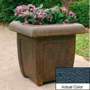 Wausau SL4071 Square Outdoor Planter - Weatherstone Charcoal 20x20x20