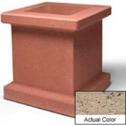 Wausau SL408 Square Outdoor Planter - Weatherstone Gray 28x28x30