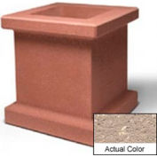 Wausau SL408 Square Outdoor Planter - Weatherstone Buff 28x28x30