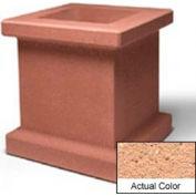 Wausau SL408 Square Outdoor Planter - Weatherstone Cream 28x28x30