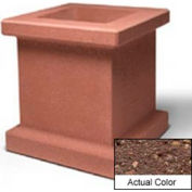 Wausau SL408 Square Outdoor Planter - Weatherstone Brown 28x28x30