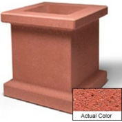 Wausau SL408 Square Outdoor Planter - Weatherstone Brick Red 28x28x30