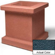 Wausau SL408 Square Outdoor Planter - Weatherstone Charcoal 28x28x30
