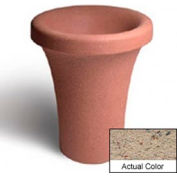 Wausau SL409 Round Outdoor Planter - Weatherstone Gray 24x30