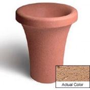 Wausau SL409 Round Outdoor Planter - Weatherstone Sand 24x30