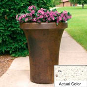 Wausau SL4091 Round Outdoor Planter - Weatherstone White 24x36