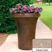 Wausau SL4091 Round Outdoor Planter - Weatherstone Buff 24x36
