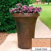 Wausau SL4091 Round Outdoor Planter - Weatherstone Cream 24x36