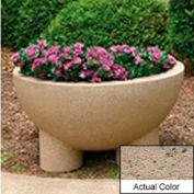 Wausau SL411 Round Outdoor Planter - Weatherstone Gray 36x20
