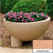 Wausau SL411 Round Outdoor Planter - Weatherstone Cream 36x20