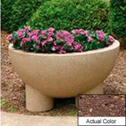 Wausau SL411 Round Outdoor Planter - Weatherstone Brown 36x20
