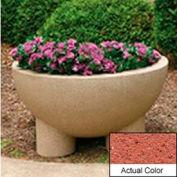 Wausau SL411 Round Outdoor Planter - Weatherstone Brick Red 36x20