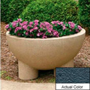 Wausau SL411 Round Outdoor Planter - Weatherstone Charcoal 36x20