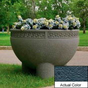Wausau SL412 Round Outdoor Planter - Weatherstone Charcoal 36x24