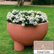 Wausau SL4121 Round Outdoor Planter - Weatherstone Buff 36x24