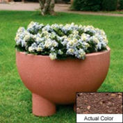 Wausau SL4121 Round Outdoor Planter - Weatherstone Brown 36x24