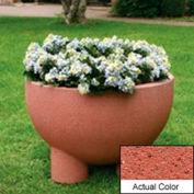 Wausau SL4121 Round Outdoor Planter - Weatherstone Brick Red 36x24