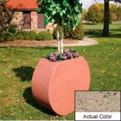 Wausau SL414 Round Outdoor Planter - Weatherstone Gray 36x15x32