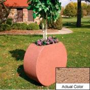 Wausau SL414 Round Outdoor Planter - Weatherstone Sand 36x15x32