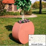 Wausau SL414 Round Outdoor Planter - Weatherstone White 36x15x32