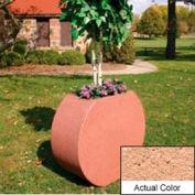 Wausau SL414 Round Outdoor Planter - Weatherstone Cream 36x15x32