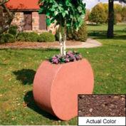 Wausau SL414 Round Outdoor Planter - Weatherstone Brown 36x15x32