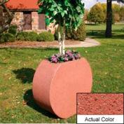 Wausau SL414 Round Outdoor Planter - Weatherstone Brick Red 36x15x32