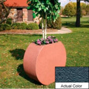 Wausau SL414 Round Outdoor Planter - Weatherstone Charcoal 36x15x32