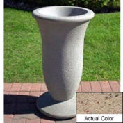Wausau SL421 Round Outdoor Planter - Weatherstone Gray 19x33