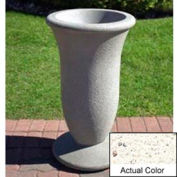 Wausau SL421 Round Outdoor Planter - Weatherstone White 19x33