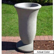 Wausau SL421 Round Outdoor Planter - Weatherstone Brown 19x33