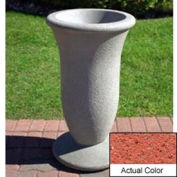 Wausau SL421 Round Outdoor Planter - Weatherstone Brick Red 19x33