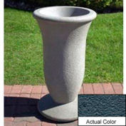 Wausau SL421 Round Outdoor Planter - Weatherstone Charcoal 19x33