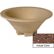 Wausau SL435 Round Outdoor Planter - Weatherstone Brown 36x15
