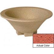 Wausau SL435 Round Outdoor Planter - Weatherstone Brick Red 36x15