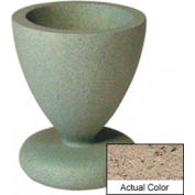 Wausau SL445 Round Outdoor Planter - Weatherstone Gray 24x29-1/2