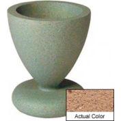 Wausau SL445 Round Outdoor Planter - Weatherstone Sand 24x29-1/2