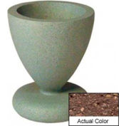 Wausau SL445 Round Outdoor Planter - Weatherstone Brown 24x29-1/2