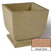 Wausau SL450 Square Outdoor Planter - Weatherstone Sand 24x24x30
