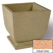 Wausau SL450 Square Outdoor Planter - Weatherstone Cream 24x24x30